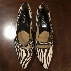 Michael Kors Zebra Print 🦓 Pony Hair Heels Pumps